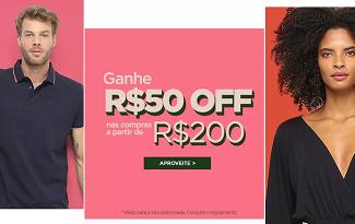 GANHE R$50 OFF em compras acima de R$200 em seleção no site da Zattini