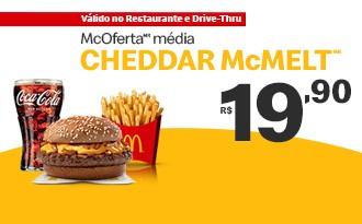 McOferta Média Cheddar McMelt por apenas R$ 19,90!