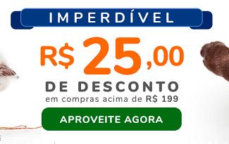 Ganhe R$25 OFF em compras acima de R$199 no site da Cobasi