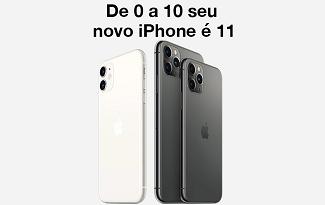 Seleção de Iphones 11 com até R$1000 OFF e Frete Grátis no site da Fast Shop
