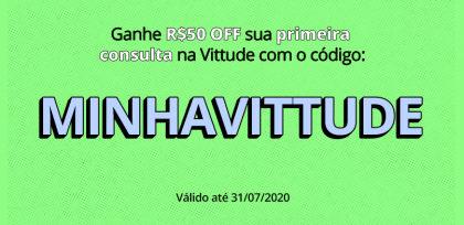 GANHE R$50 em terapia com qualquer psicólogo da Vittude!