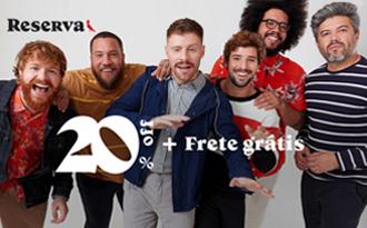 Desconto de 20% + Frete Grátis em compras no site da Reserva!