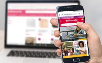 Confira a categoria Outlet com até 80% OFF no site da Telhanorte