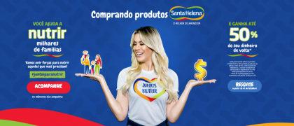Promoção Juntos Para Nutrir: Ajude famílias e tenha até 50% do seu dinheiro de volta!