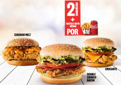 Escolha 2 Sanduíches + Batata e Refrigerante por apenas R$ 32,90 no Uber Eats!