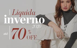 Liquida Inverno com até 70% OFF + Cupom Shop2Gether de 10% OFF EXTRA no site