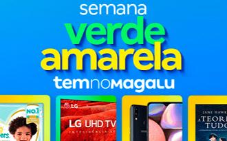 Semana Verde e Amarela com até R$1000 OFF em Cashback no site da Magazine Luiza