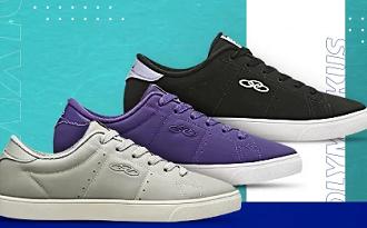 Compre 3 tênis Olympikus pelo preço de 1 em seleção especial no site da Netshoes