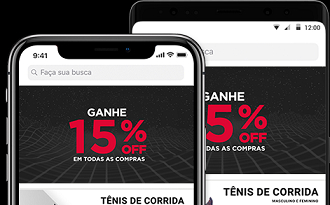 Cupom de 15% OFF em compras pelo app da Centauro